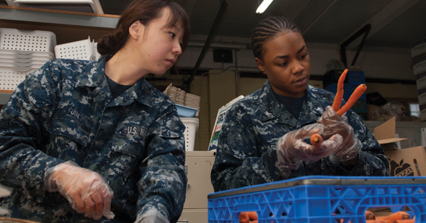 Stennis Sailors participating in COMRELs
