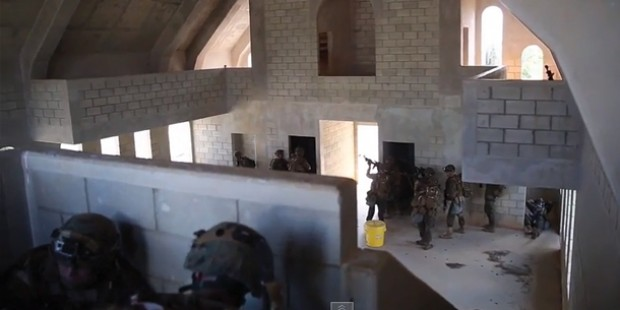 Marines Practice Urban Warfare Tactics
