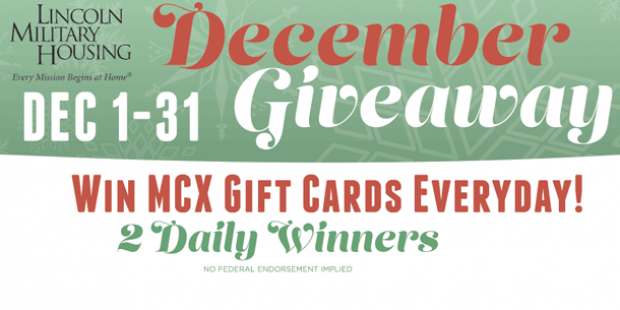 Lincoln Military Housing December Giveaway