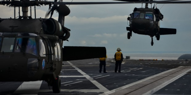 USS Stennis/Army helicopter operations