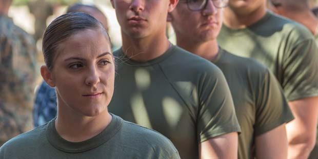 First female Marine students arrive at SOI-West