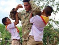 Reservist builds friendships at Thai school