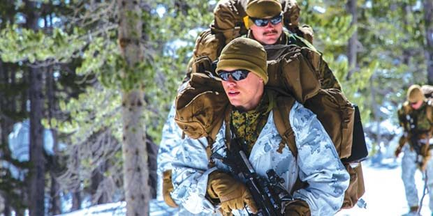 Marines battle the Sierra Nevada cold