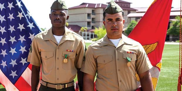 Courage compels combat Marines to save lives
